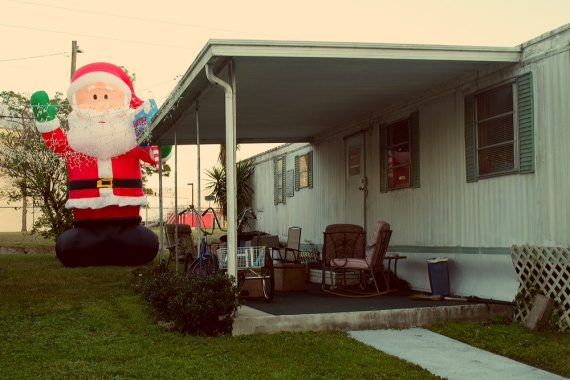 Santa, Fairview Estates Mobile Home Park, St. Petersburg, FL.