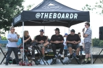Ryan Clements, Elissa Steamer, Mike Frazier, Tim Payne, Nick Halkias, and Anthony Furlong discussing skateboarding in Florida.