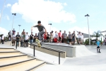 Frontside Bluntslide during the Best Trick Contest at Lakeland Skatepark.