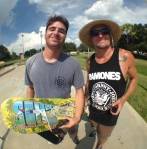 Eric Weingart took home some product and CA$H with his Nollie Full-Cab Late Backfoot Flip over the hip!